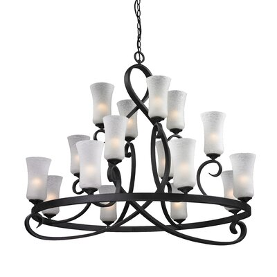 Arshe 16-Light Shaded Chandelier