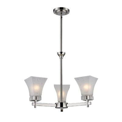 Pershing 3-Light Shaded Chandelier