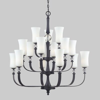 Harmony 15-Light Shaded Chandelier