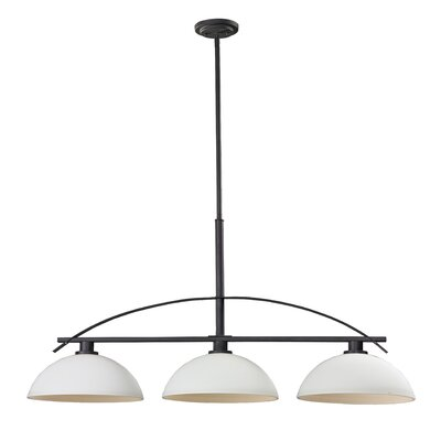 Ellipse 3-Light Kitchen Island Pendant Finish: Bronze