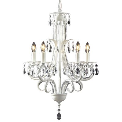 Parisian 5-Light Candle-Style Chandelier Finish: White