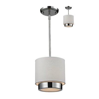 Josue 1-Light Mini Pendant Color: White