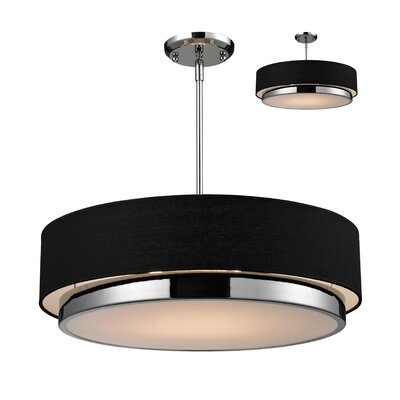Jade 3-Light Drum Pendant Shade Color: Black