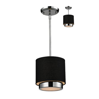 Jade 1-Light Mini Pendant Color: Black