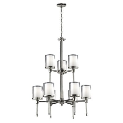 Kirsch 9-Light Shaded Chandelier