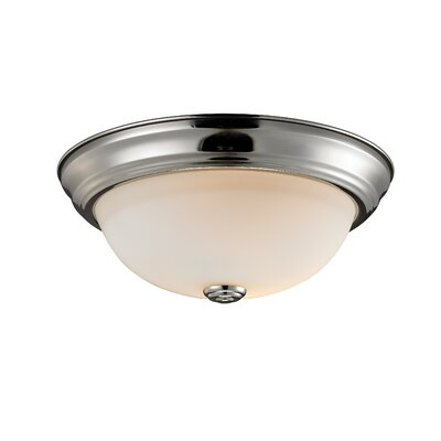Athena 2-Light Flush Mount Shade Finish: Matte Opal