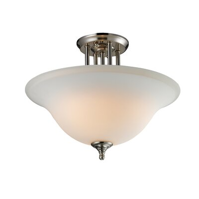 Athena 3-Light Semi-Flush Mount Shade Finish: Matte Opal