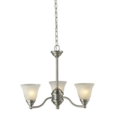 Athena 3-Light Shaded Chandelier