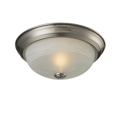 Athena 1-Light Flush Mount Shade Finish: White Swirl