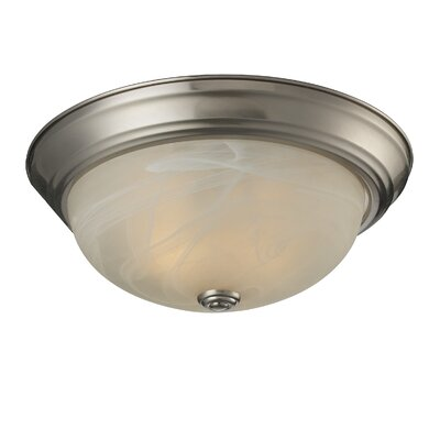 Athena 2-Light Flush Mount Shade Finish: White Swirl