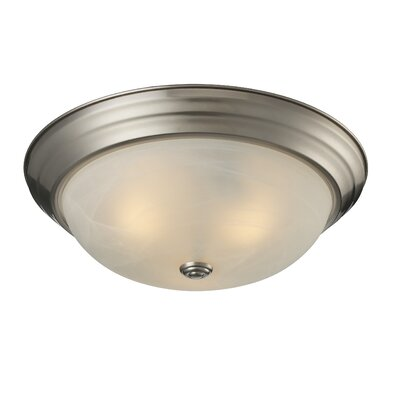 Athena 3-Light Flush Mount Shade Finish: White Swirl