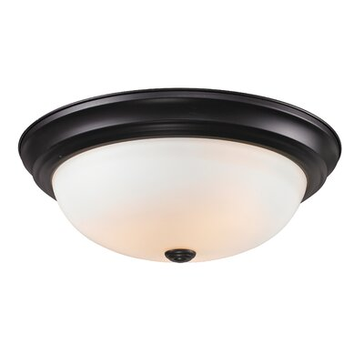 Athena 3-Light Flush Mount Shade Finish: Matte Opal