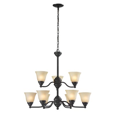 Athena 9-Light Shaded Chandelier
