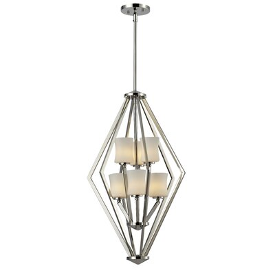 Mchale 6-Light Foyer Pendant Frame Finish: Chrome