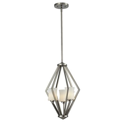 Mchale 3-Light Foyer Pendant Frame Finish: Brushed Nickel
