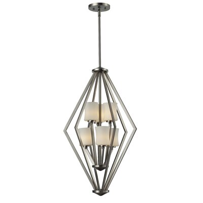 Mchale 6-Light Foyer Pendant Frame Finish: Brushed Nickel