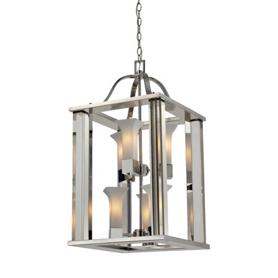Lotus 6-Light Foyer Pendant Frame Finish: Chrome
