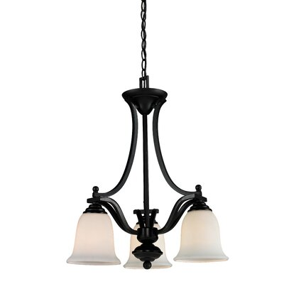 Weyer 3-Light Shaded Chandelier Frame Finish: Bronze
