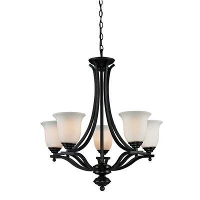 Weyer 5-Light Shaded Chandelier Frame Finish: Bronze