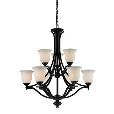 Lagoon 9-Light Shaded Chandelier Frame Finish: Bronze