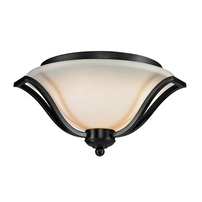 Weyer 3-Light Flush Mount Finish: Bronze