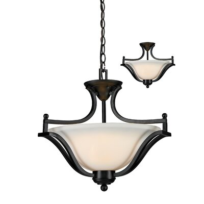 Weyer 3-Light Bowl Pendant Frame Finish: Bronze