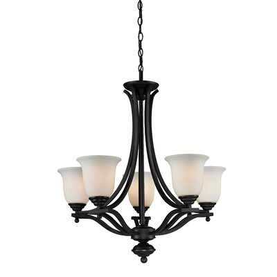 Lagoon 5-Light Shaded Chandelier Frame Finish: Matte Black