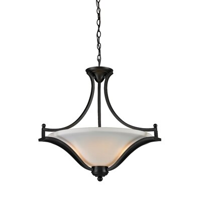 Lagoon 3-Light Bowl Pendant Frame Finish: Matte Black
