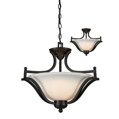 Weyer 3-Light Bowl Pendant Frame Finish: Matte Black