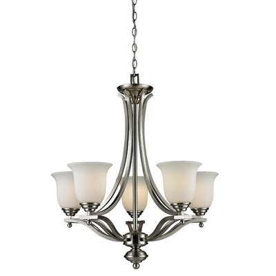 Weyer 5-Light Shaded Chandelier Frame Finish: Brushed Nickel