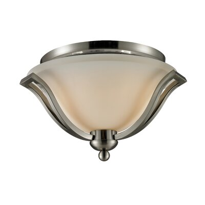 Lagoon 2-Light Flush Mount Finish: Brushed Nickel