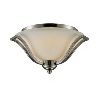 Weyer 3-Light Flush Mount Finish: Brushed Nickel
