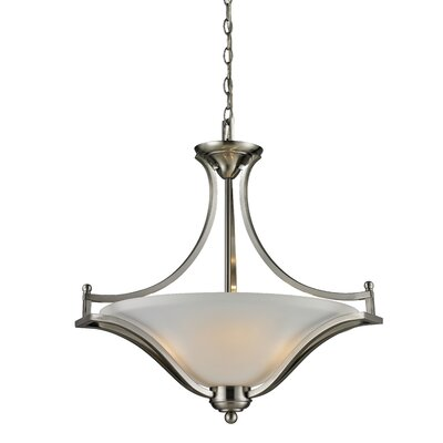 Weyer 3-Light Bowl Pendant Frame Finish: Brushed Nickel