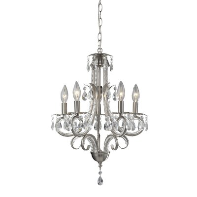 Pearl 5-Light Candle-Style Chandelier