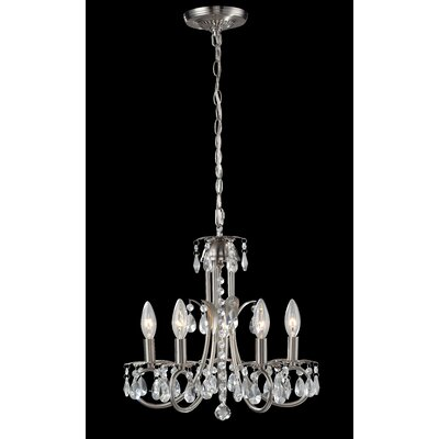 Pearl 5-Light Candle-Style Chandelier Frame Finish: Brushed Nickel