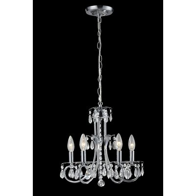 Pearl 5-Light Candle-Style Chandelier Frame Finish: Chrome