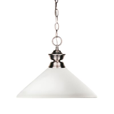 Chapa 1-Light Billiard Pendant Shade Color: Matte Opal