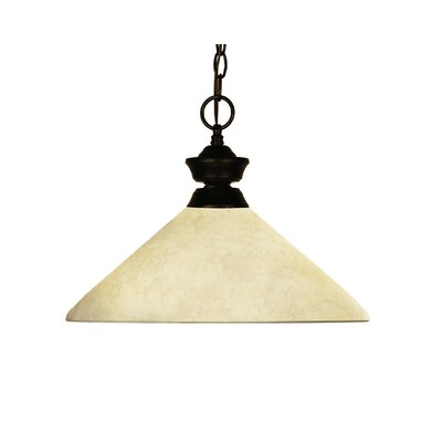 Chance 1-Light Billiard Pendant Frame Finish: Golden Mottle