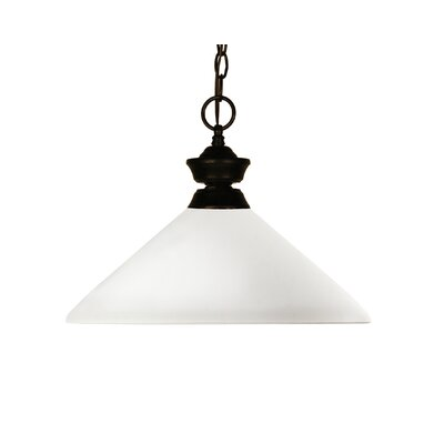 Beecroft 1-Light Billiard Pendant Frame Color: Matte Opal