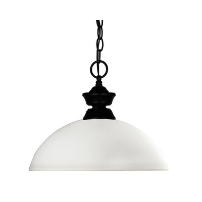 Windsor 1-Light Billiard Pendant Shade Finish: Matte Opal