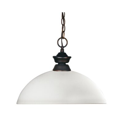 Zephyr Contemporary 1-Light Metal Billiard Pendant Shade Finish: Matte Opal