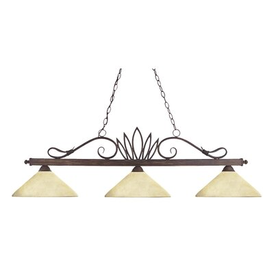 Crown 3-Light Billiard Pendant
