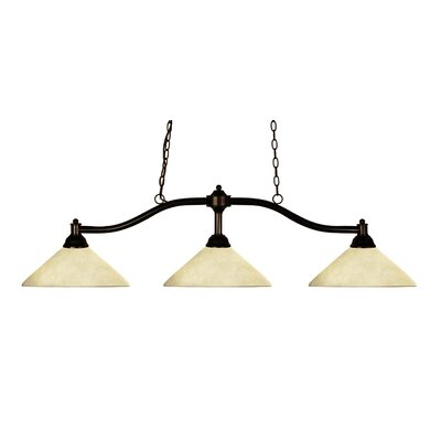 Beecroft 3-Light Billiard Pendant Shade Color: Golden Mottle