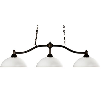 Beecroft 3-Light Billiard Pendant Shade Color: Matte Opal