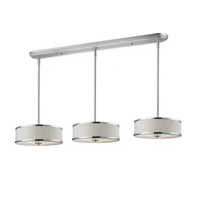 Gamboa 9-Light Kitchen Pendant Lighting Shade Finish: White