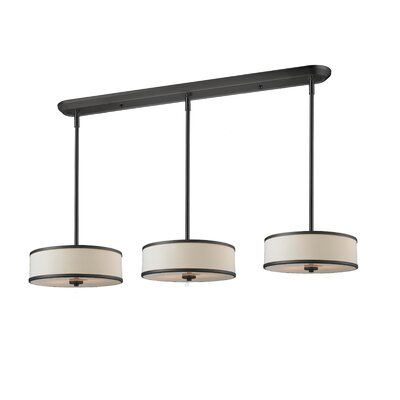 Gamboa 9-Light Kitchen Pendant Lighting Shade Finish: Creme