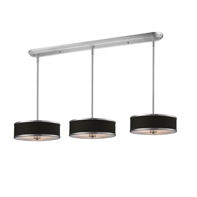 Gamboa 9-Light Kitchen Pendant Lighting Shade Finish: Black