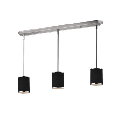 Gamboa 3-Light Kitchen Pendant Lighting Shade Finish: Black