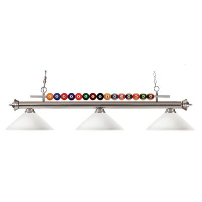 Chapa 3-Light Billiard Pendant Frame Finish: Brushed Nickel