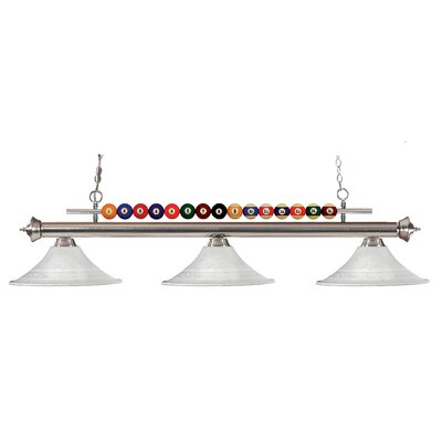 Shark 3-Light Billiard Light Frame Finish: Brushed Nickel